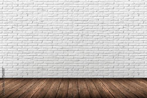 Staande foto Wand muro mattoni bianchi