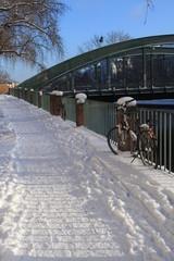 Winterpartie an der Charlottenburger Schloßbrücke