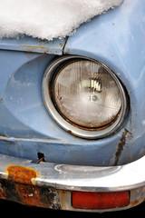 Old car in winter