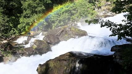 Mountain stream rainbow