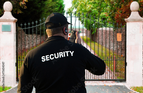 Leinwandbild Motiv security guard