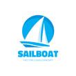 Sailboat - vector logo concept illustration. Ship sign. - 75654738