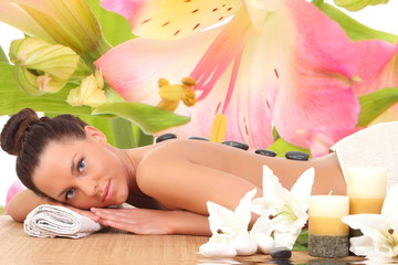Beautiful Woman Getting Spa