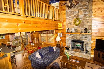 Inside a Log Cabin