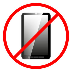 Icon ban cell phone.