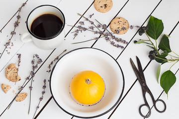 Vivid Color Pumpkin, Lavender Cookies and Coffee