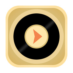 Vinyl record music audio player retro icon