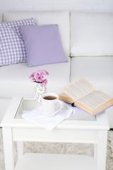 Apartment interior and decor in gentle tones