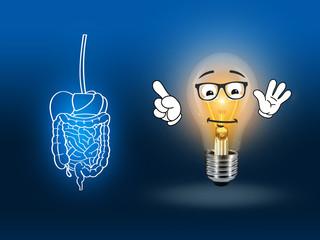 stomach intestinal digestive pain blue