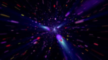 cosmos fly in stars 4k