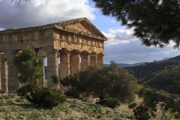 Segesta Greek temple in Sicily