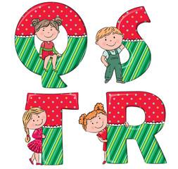 Alphabet kids QRST