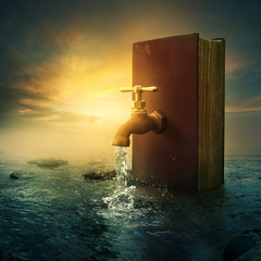 Book and faucet