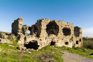 Mediterranean Sea - Ruins of Side, Turkey