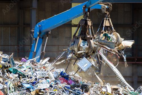 Fotobehang Metal Mülldeponie