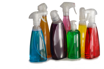 Assorted Cleaning Bottles