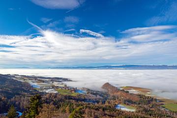 Seeland im Nebel