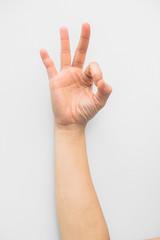 hand sign ok isolated on white background