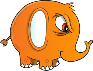 Nasty Elephant Vector Illustration Art