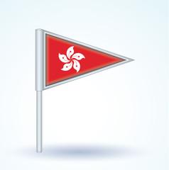 Flag of Hong kong, vector illustration