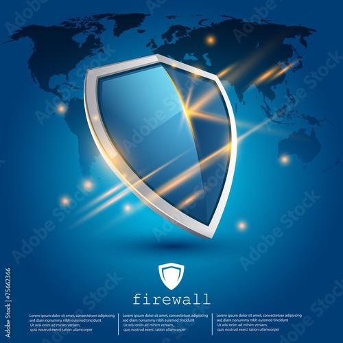 Zdjęcia na płótnie, fototapety, obrazy : firewall shield