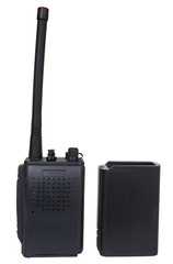Radio apart from its battery