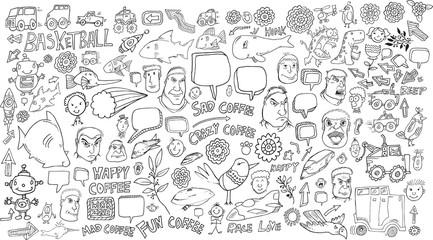 Doodle Vector Illustration Art Set