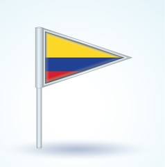 Flag set of Colombia, vector illustration