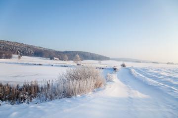 idyllische Winterlandschaft in Thüringen