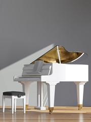 Weißes Piano
