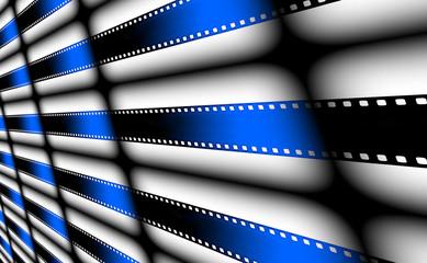 Film strips background.