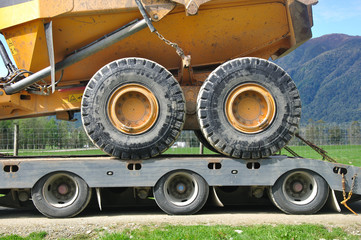 the wheels on the rig