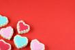 Valentine's Day Heart Cookie Background - 75665706