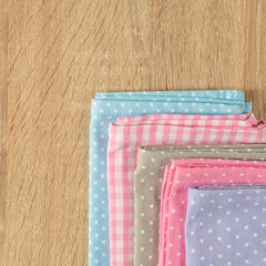 Kitchen rags in various colors
