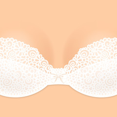 Lacy brassiere
