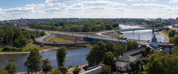 panorama of the city of Yaroslavl, Russia