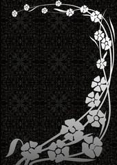 Çiçekli kompozisyon (gri)