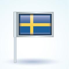 Flag set of Sweden, vector illustration