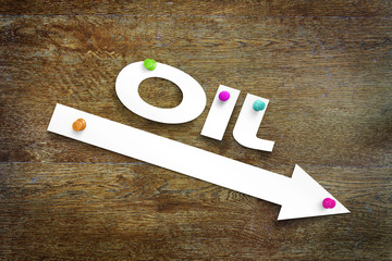 Concept of declining oil prices