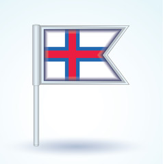 Flag set of Faroe Islands, vector illustration