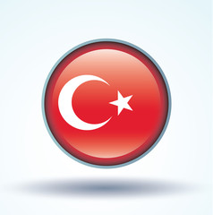 Flag set of Turkey, vector illustration