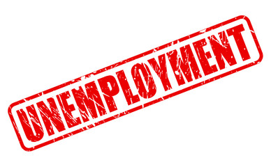 UNEMPLOYMENT red stamp text