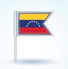 Flag set of Venezuela, vector illustration