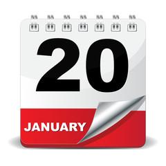 20 JANUARY ICON
