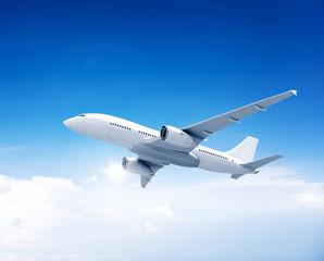 Airplane Aircraft Sky Transportation Travel Concept