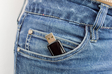 memory flash drive usb in my pocket