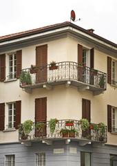 Facade in Como. Italy