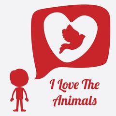 Pet design over red background vector illustration