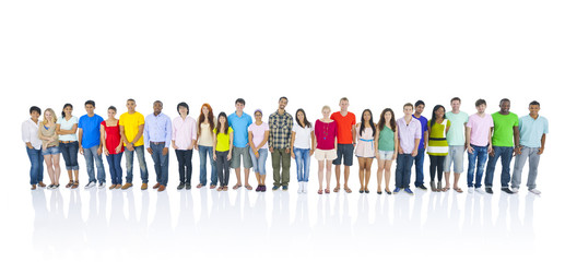 Large Group People Standing Diverse Unity Concept