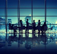壁紙(ウォールミューラル) - Agreement Office Meeting Conference Seminar Room Concept
